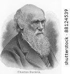 charles darwin   picture from... | Shutterstock . vector #88124539