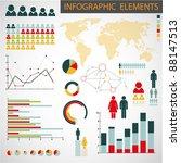 big vector collection of... | Shutterstock .eps vector #88147513