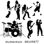 silhouette of rock and roll... | Shutterstock . vector #88149877