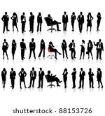business people silhouettes | Shutterstock .eps vector #88153726