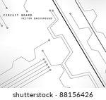 circuit board vector background ... | Shutterstock .eps vector #88156426