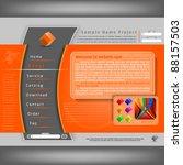 vector website design template | Shutterstock .eps vector #88157503