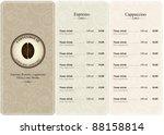 menu for restaurant  cafe  bar  ... | Shutterstock .eps vector #88158814