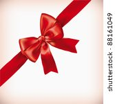 red bow  ribbon | Shutterstock .eps vector #88161049