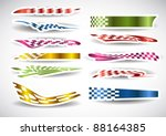 flag sticker patterns | Shutterstock .eps vector #88164385