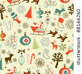christmas seamless pattern | Shutterstock .eps vector #88166260