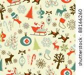 christmas seamless pattern | Shutterstock .eps vector #88166260