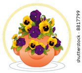 Pansy  Clay Strawberry Pot...