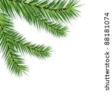 pine branches | Shutterstock .eps vector #88181074