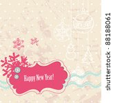 vector scrapbook new year card | Shutterstock .eps vector #88188061