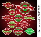 christmas labels collection   Shutterstock .eps vector #88193371