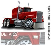 vector cartoon semi truck   Shutterstock .eps vector #88194358