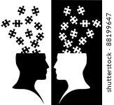 Stock vector thinking idea 88199647