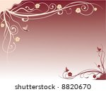 background with flowers and... | Shutterstock .eps vector #8820670