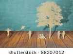 paper cut of children play   Shutterstock . vector #88207012