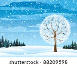 Vector Winter Nature With...