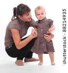 Young mother and her child. - stock photo