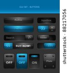 vector user interface elements  ... | Shutterstock .eps vector #88217056