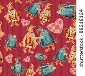 seamless bird pattern   funny... | Shutterstock .eps vector #88218124
