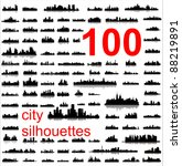 city silhouettes of the most... | Shutterstock .eps vector #88219891