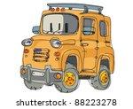 suv   cartoon | Shutterstock .eps vector #88223278