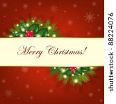 merry christmas background with ... | Shutterstock .eps vector #88224076