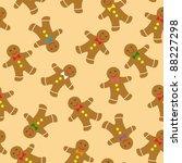 gingerbread cookies seamless... | Shutterstock .eps vector #88227298