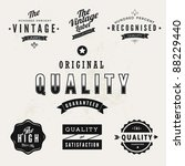 vintage styled premium quality... | Shutterstock .eps vector #88229440