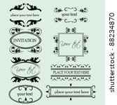 set of decorative frame... | Shutterstock .eps vector #88234870