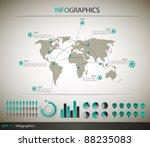 detail infographic    eps10... | Shutterstock .eps vector #88235083