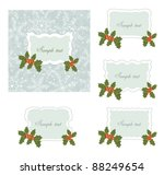 christmas card. | Shutterstock .eps vector #88249654