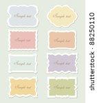 vector set  vintage labels | Shutterstock .eps vector #88250110