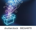christmas with gift box | Shutterstock . vector #88264870