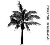 palm tree silhouette | Shutterstock . vector #88265560