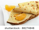 Crepe On A Plate With Mandarin...