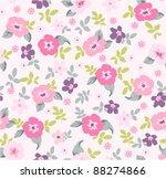 spring floral seamless pattern