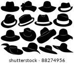 hats illustration | Shutterstock .eps vector #88274956