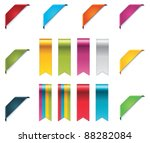 vector ribbons set | Shutterstock .eps vector #88282084