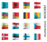 vector flags icon set. europe ... | Shutterstock .eps vector #88282885