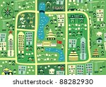 seamless map of beijing | Shutterstock .eps vector #88282930