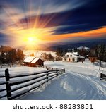 Winter Landscape. Mountain...