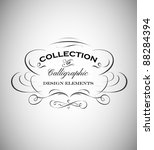 vintage emblem made of separate ... | Shutterstock .eps vector #88284394