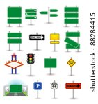 Set Of Green Signs
