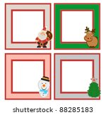 Four Photo Frames With Santa...