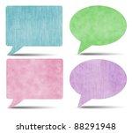 colorful vintage speech bubbles ...   Shutterstock . vector #88291948