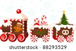 christmas train made of... | Shutterstock .eps vector #88293529