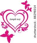 heart of love. vintage frame in ... | Shutterstock .eps vector #88298314