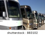 recreational vehicles - stock photo