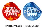 Special Christmas offer stickers set. - stock vector