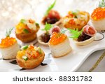 assorted savoury holiday snacks ... | Shutterstock . vector #88331782